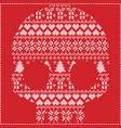 scandinavian pattern sugar skull on red vector image