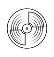 vinyl record turntable icon vector image
