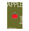 apple cartoon vector image vector image