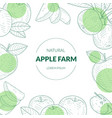 apple farm banner template with organic natural vector image vector image