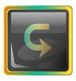 back grey square icon with yellow and green vector image vector image