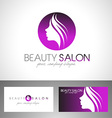 Beauty Female Face Logo vector image vector image