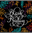 black friday calligraphy text on black brush vector image