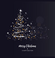 brightness christmas tree vector image vector image