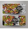 Cartoon doodles art banners vector image vector image