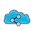 cloud sharing symbol application social media vector image vector image