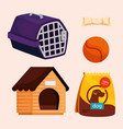 collection icons for dogs vector image vector image