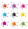 colored blots on white background vector image