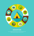 concept adventure camping vector image