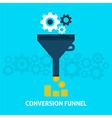 Conversion Funnel Flat Concept vector image