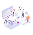 creative process white isometric vector image