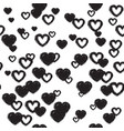 cute background with hearts vector image vector image