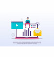 digital marketing concept with tiny people can vector image