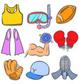 doodle of sport various object vector image vector image