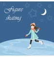 Figure skating with text vector image vector image