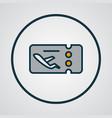 flight ticket icon colored line symbol premium vector image vector image