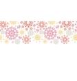 Folk floral circles abstract horizontal seamless vector image vector image