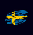 grunge textured swedish flag vector image vector image