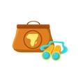 Handbag And Binoculars vector image