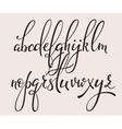 Handwritten brush style calligraphy cursive font vector image vector image