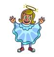 Happy halloween Cartoon cute child in costume vector image vector image