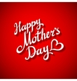 Happy Motherss Day Typographical Design Card With vector image vector image