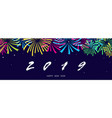 happy new year background texture with fireworks vector image vector image