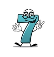 Happy number 7 making a victory sign vector image vector image