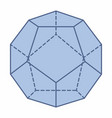 isolated dodecahedron vector image vector image