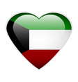 Kuwait flag button vector image