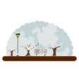 landscape of a park in winter vector image vector image