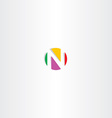 letter n colorful logo circle vector image vector image