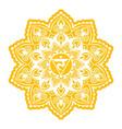 manipura third chakra coloring vector image
