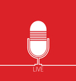 microphone red vector image