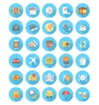 Modern Flat Traveling Icons vector image