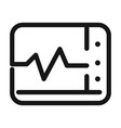 monitoring heart rate medical and health care line vector image