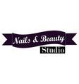 nail studio logo vector image vector image