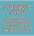 nostalgic style header vintage 3d alphabet set vector image