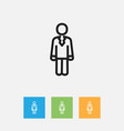of trade symbol on job person vector image vector image