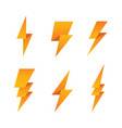 paper lightning bolt icon set vector image