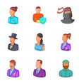 personalization icons set cartoon style vector image vector image