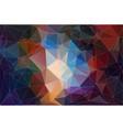 polygonal multicolor background vector image vector image