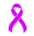 purple ribbon healthcare concept vector image