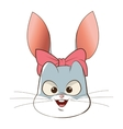 rabbit cartoon icon vector image vector image