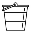 reconstruction metal bucket icon outline style vector image vector image
