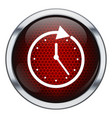 Red honeycomb clock icon vector image vector image