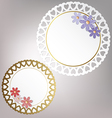 Round card with flowers vector image vector image