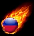 Round glossy icon of haiti vector image vector image
