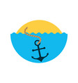 sea anchor isolated icon vector image