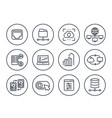 servers networks solutions hosting line icons vector image